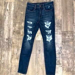Distressed Women's Hight-waisted Jegging